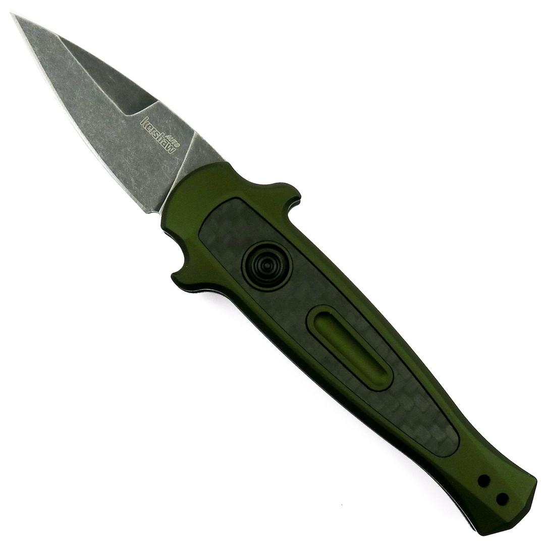 "Kershaw OD Green Launch 12CA Auto Knife, 1.93"" BlackWash Blade"