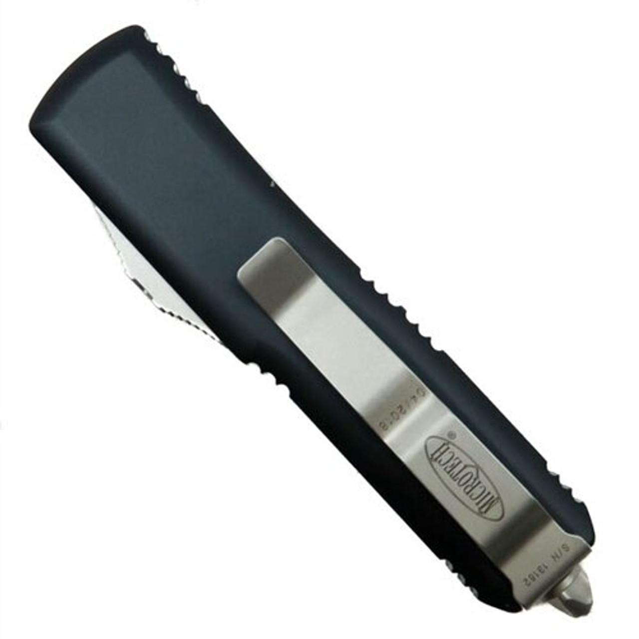 Microtech 232-4 Contoured UTX-85 D/E OTF Auto Knife, Satin Blade REAR VIEW