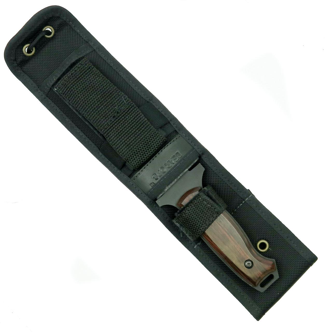 Bear OPS CQC-110-CB2-T Combat Knife, Titanium Wash Tanto, Cocobolo Handle Closed View