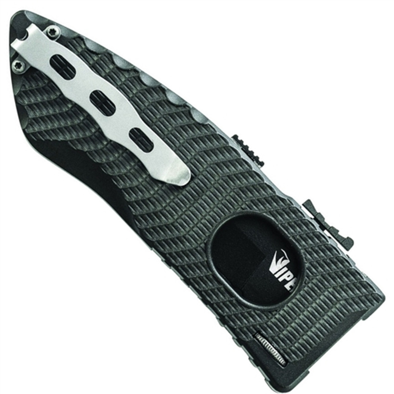 Schrade Viper Side Assist 2 Knife, Black Tanto Combo Blade