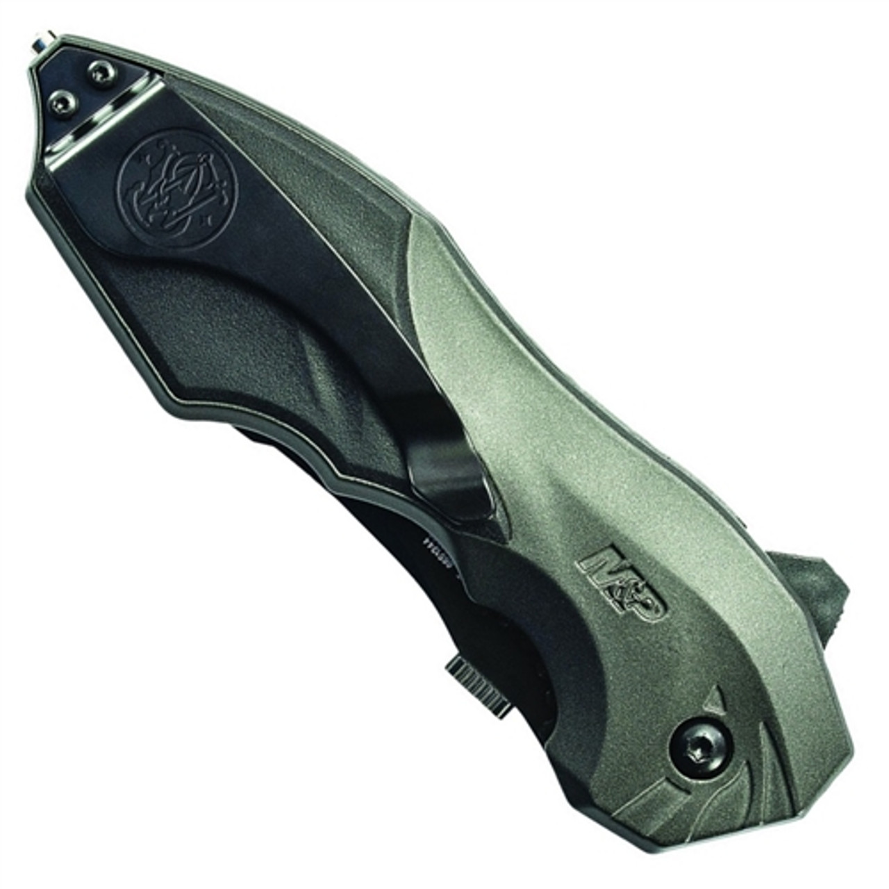 Smith & Wesson Grey MAGIC Spring Assist Clip Point, Black, P/S, SWMP5LS