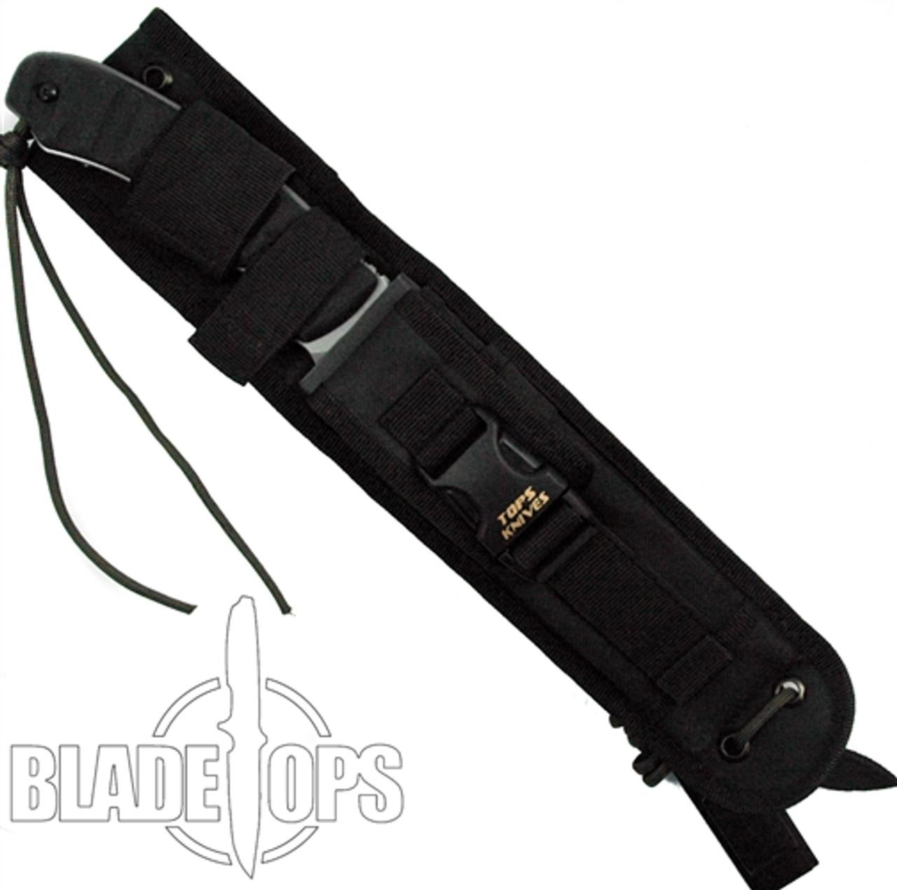 TOPS Knives RMT Longhorn Bowie Knife, Black River Wash Blade