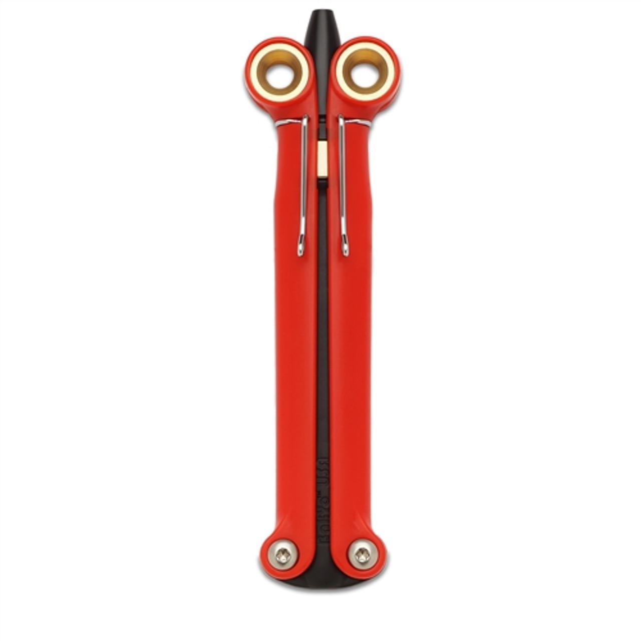 Spyderco BaliYo YUS110 Red Balisong Butterfly Pen, Black Body