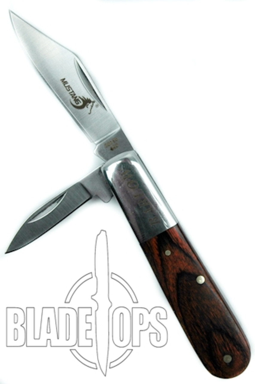 Barlow Mustang Folder Knife, Pakka Wood