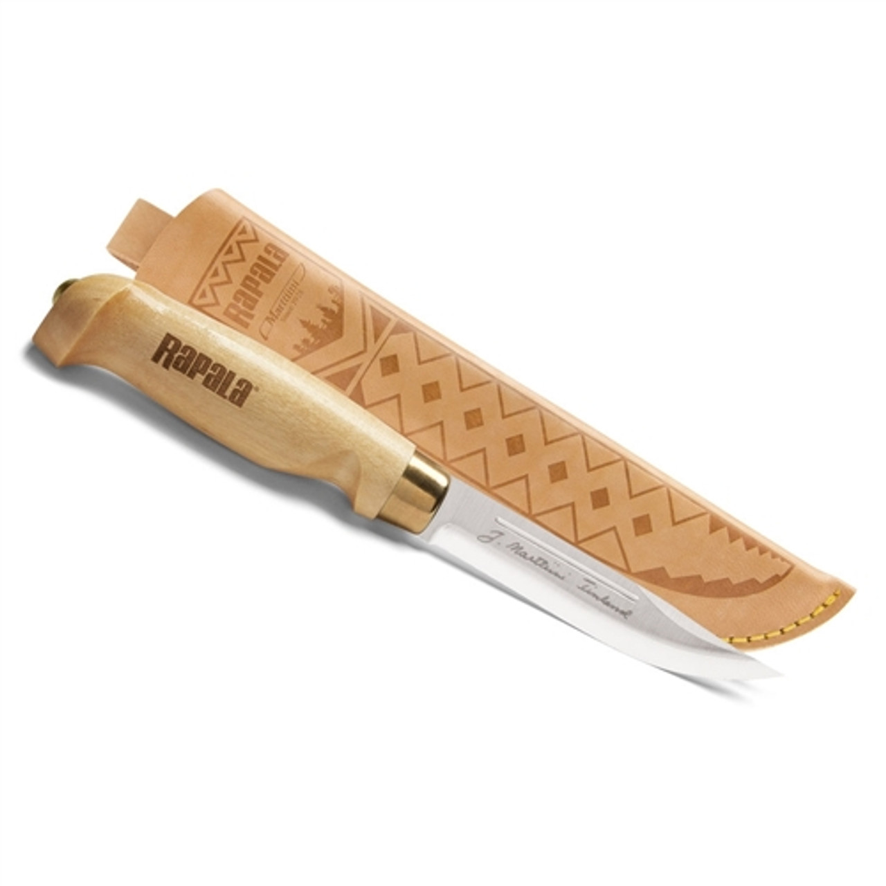 Rapala CBCP45 Classic Birch Clip Point Fixed Blade Knife, Satin Blade