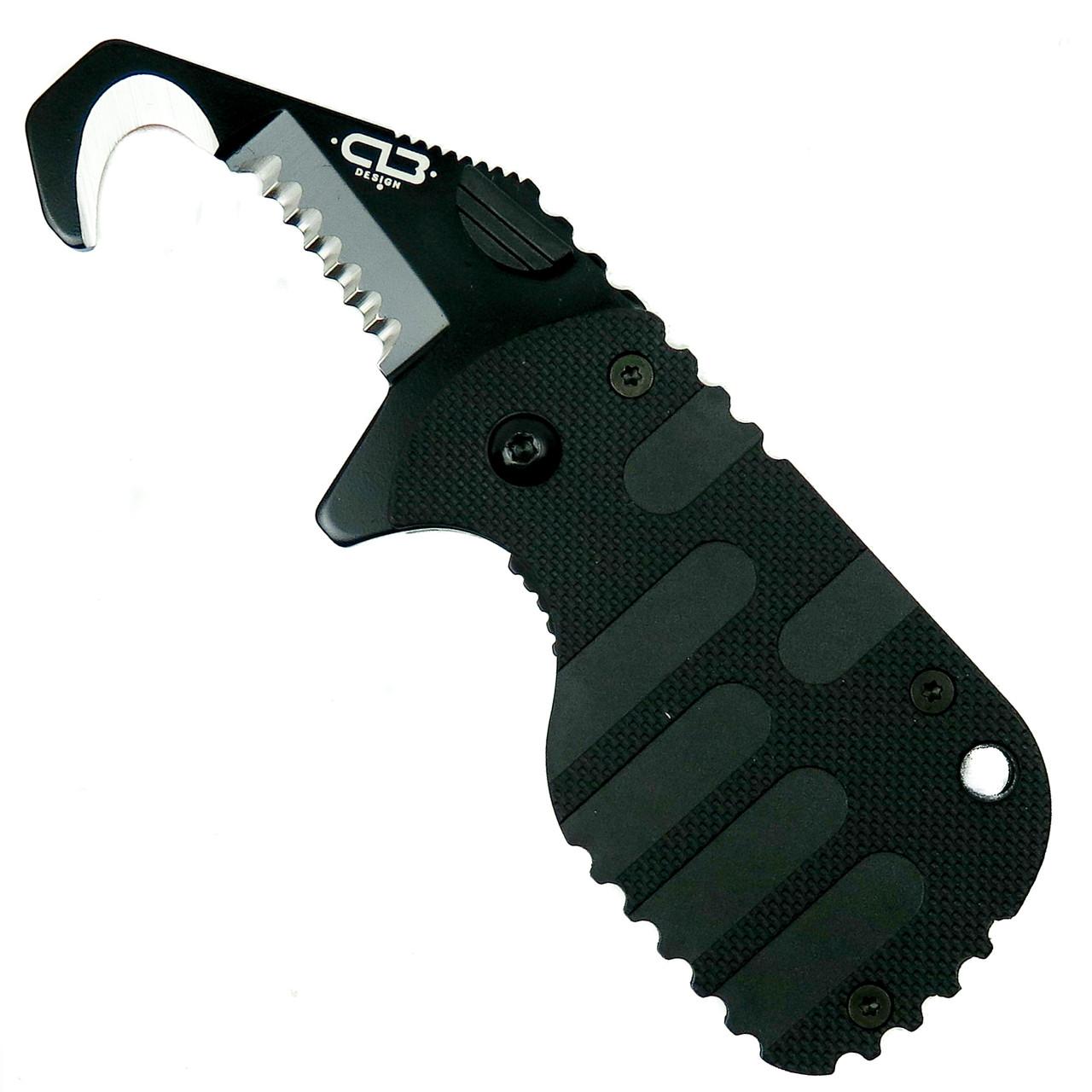Boker Plus Rescom Tactical Rescue Knife, Black, 01BO583