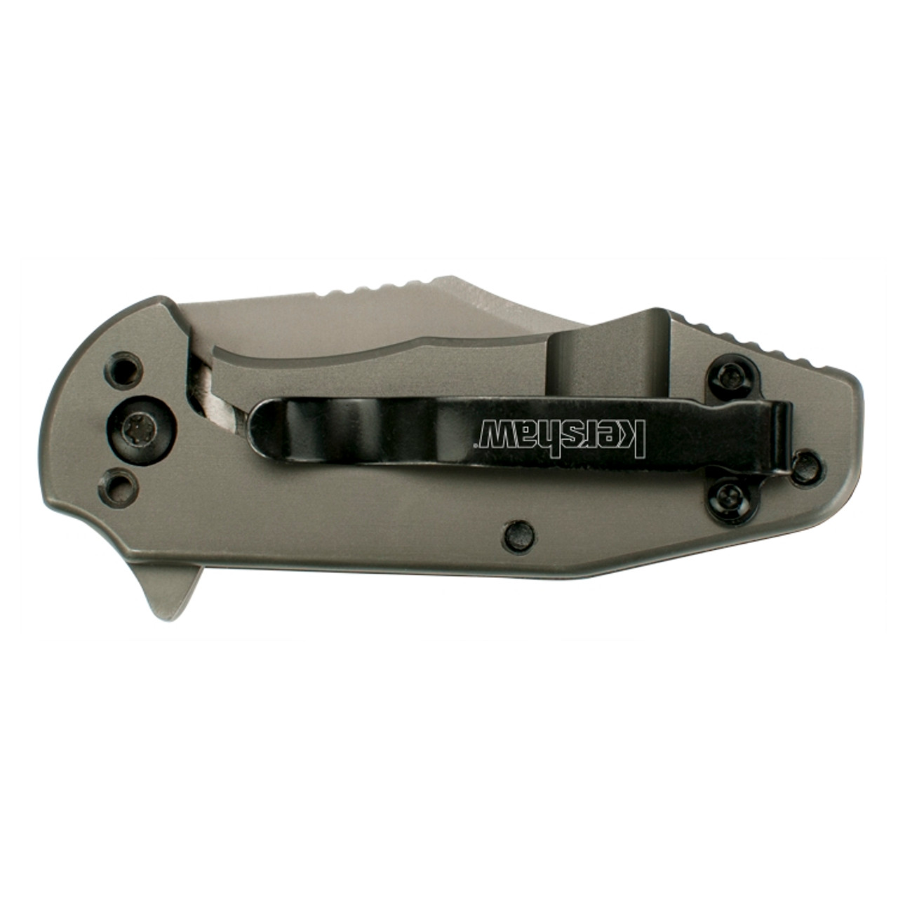 Kershaw Ember Assist Knife, CarboNitride Finished Clip Blade REAR VIEW