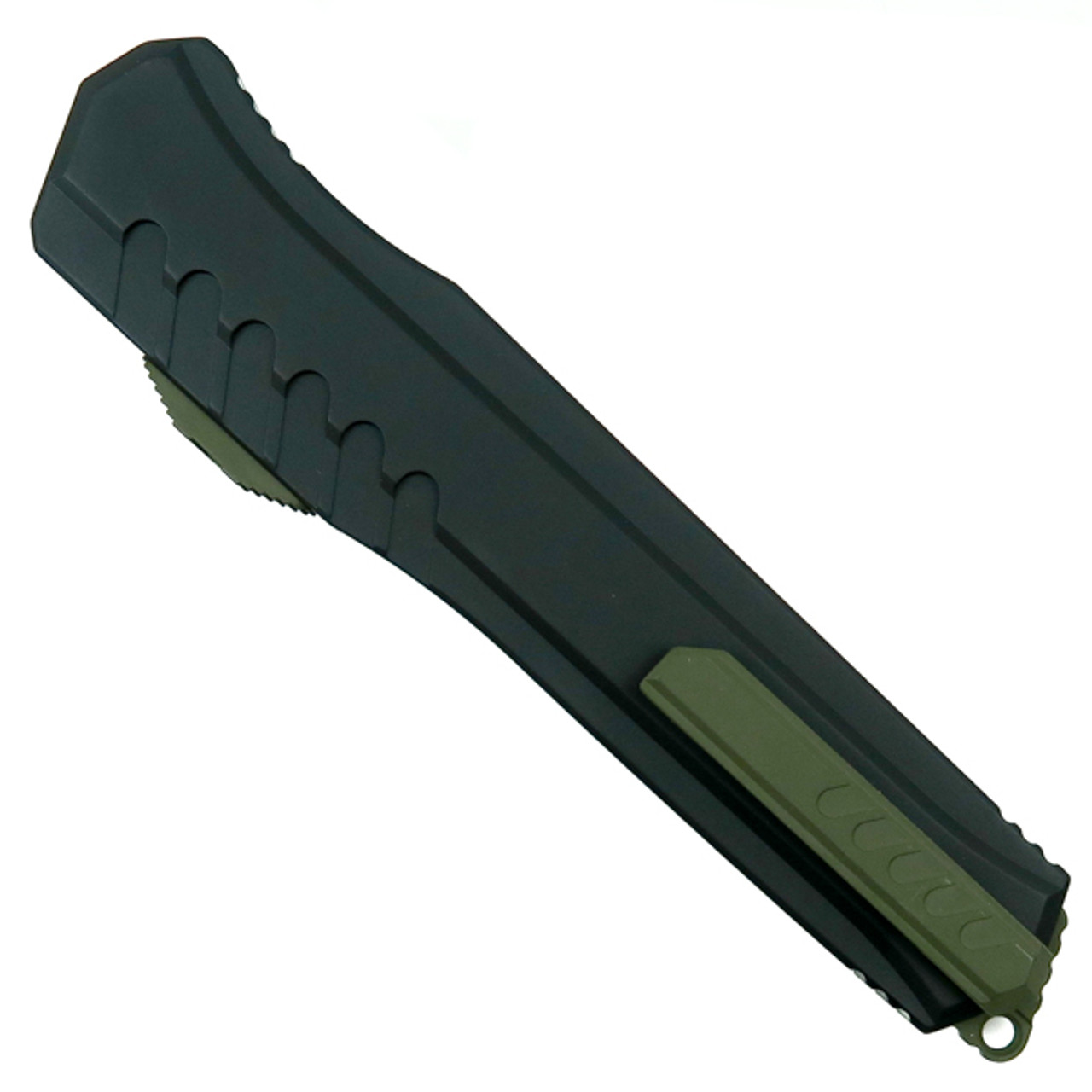 Microtech Limited 241M-1GRB Cypher MK7 S/E OTF Auto Knife, Green Hardware, Green/Satin Blade