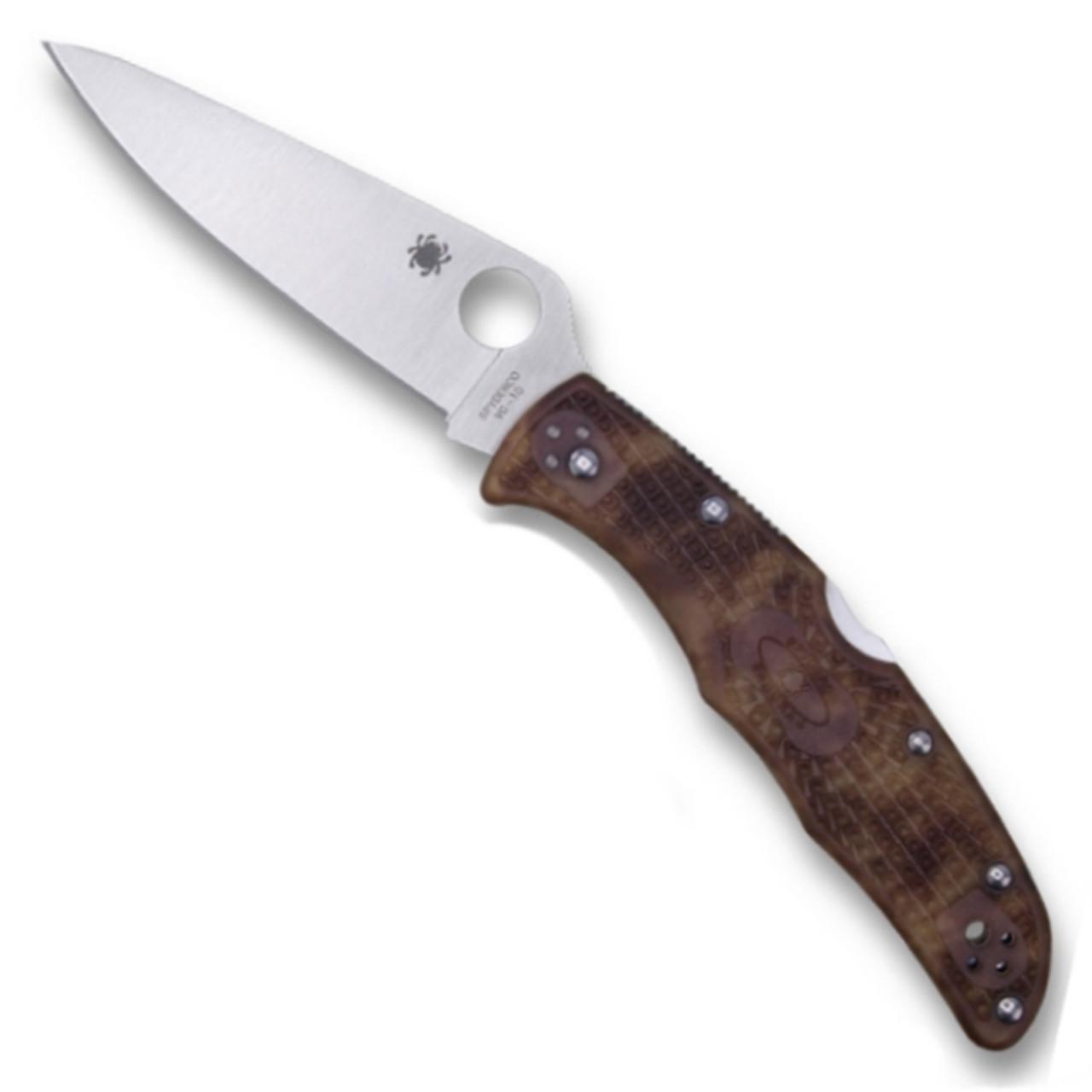 Spyderco C10ZFPDCMO Zome Desert Camo Endura 4 Folder Knife, VG-10 Satin Blade