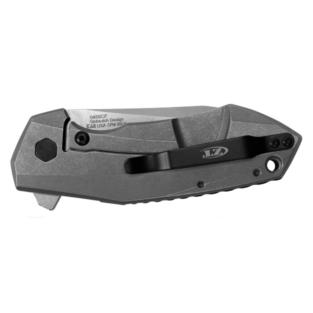 Zero Tolerance Sprint Run 0456CF Carbon Fiber Flipper Knife, Satin Blade
