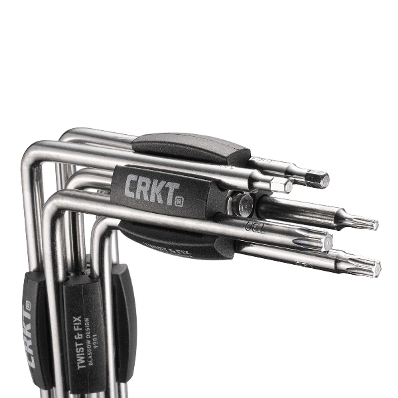 CRKT Twist & Fix Torx/Hex Tools, Black Handles