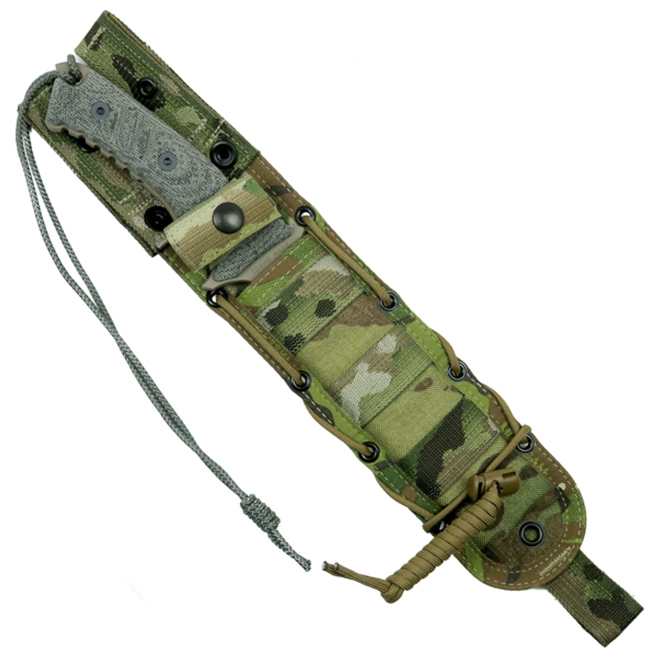 Chris Reeve Pacific Fixed Blade Knife, FDE Combo Blade Sheath
