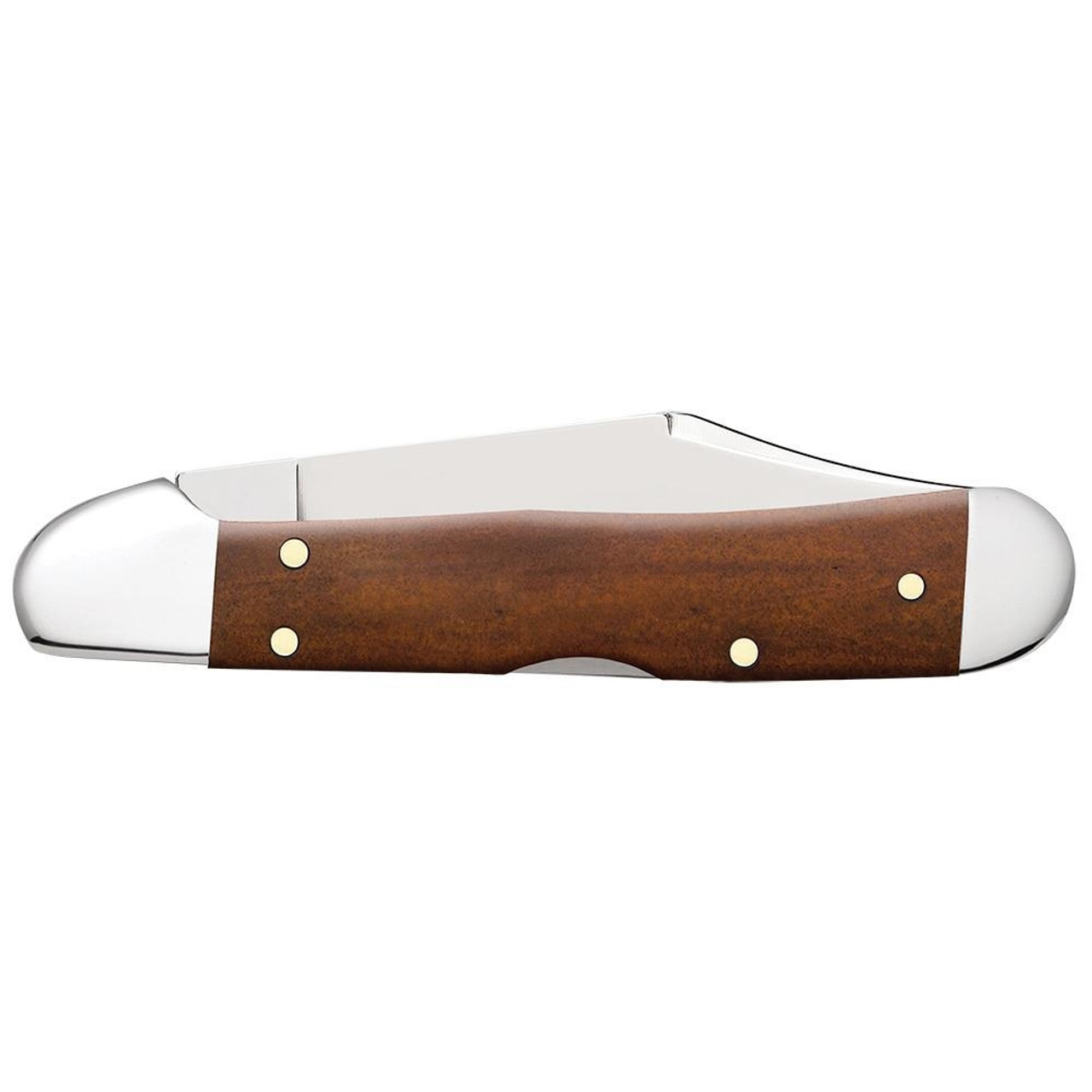 Case Mini CopperLock Chestnut Bone Folder Knife, Satin Blade REAR VIEW