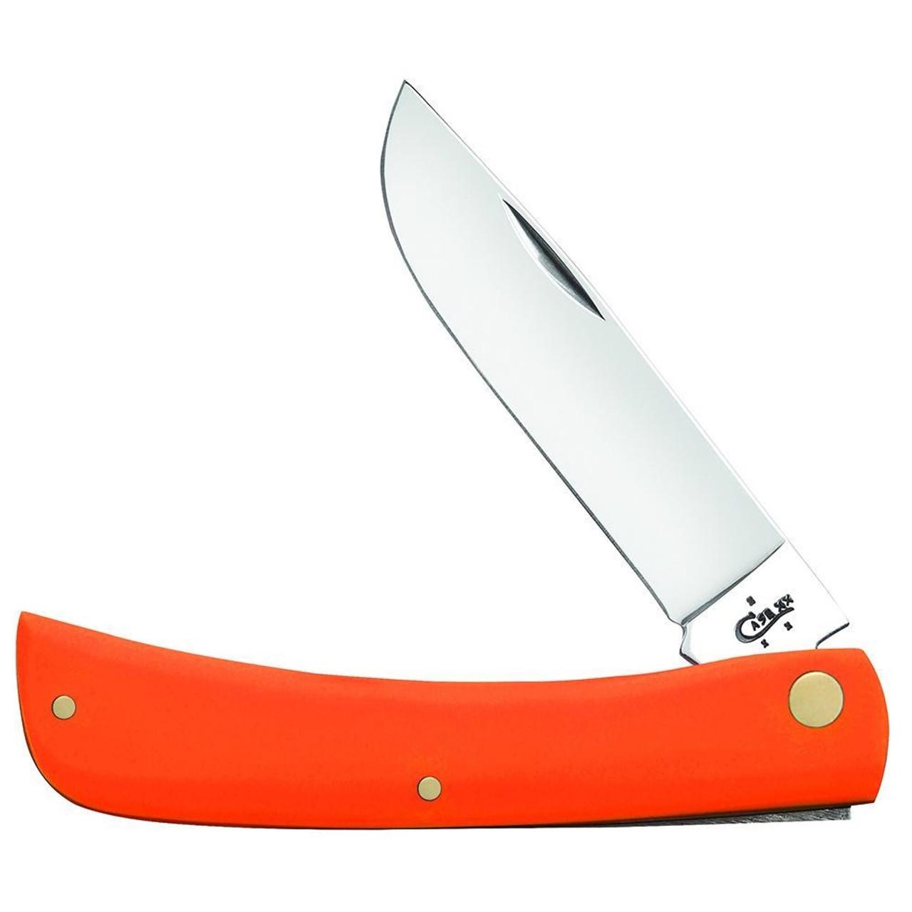 Case Sod Buster Jr. Orange Synthetic Folder Knife, Satin Blade