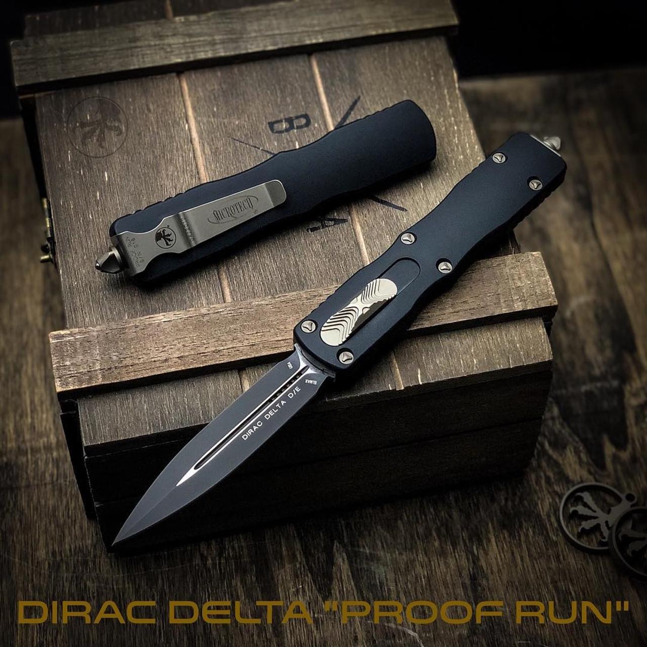Microtech Dirac Delta Dagger OTF Auto Knife, Black Blade [Proof Run]