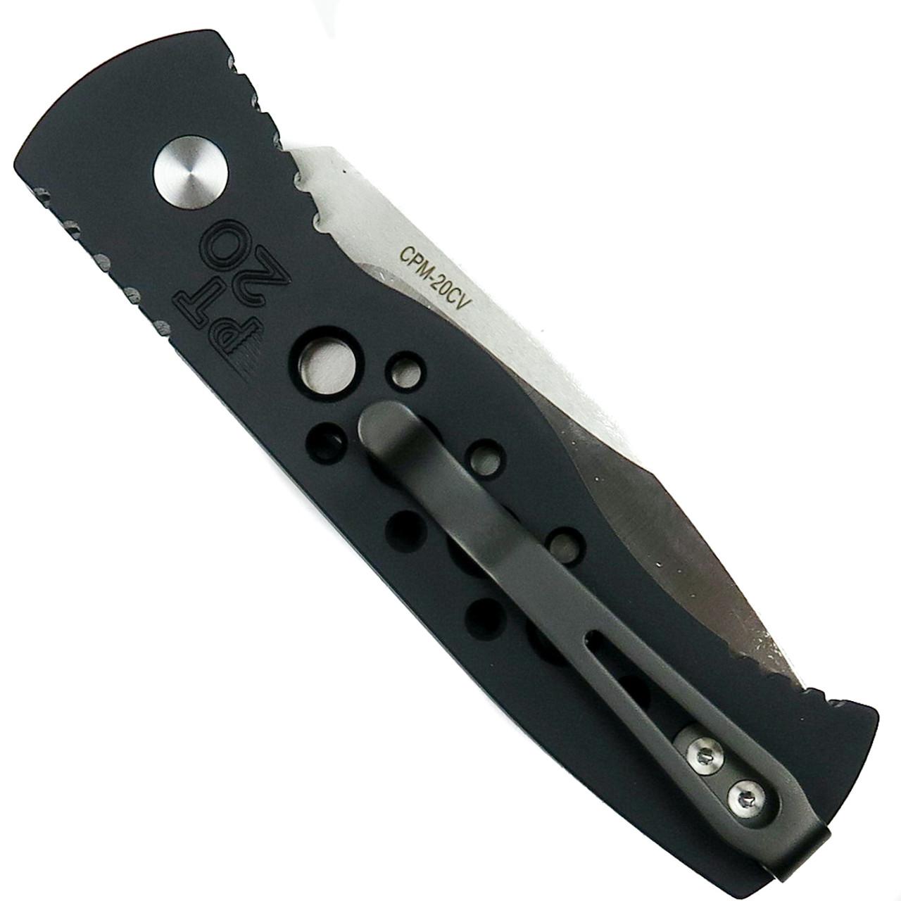 Pro-Tech 20th Anniversary TR-2 Auto Knife, CPM-20CV Blade Back View