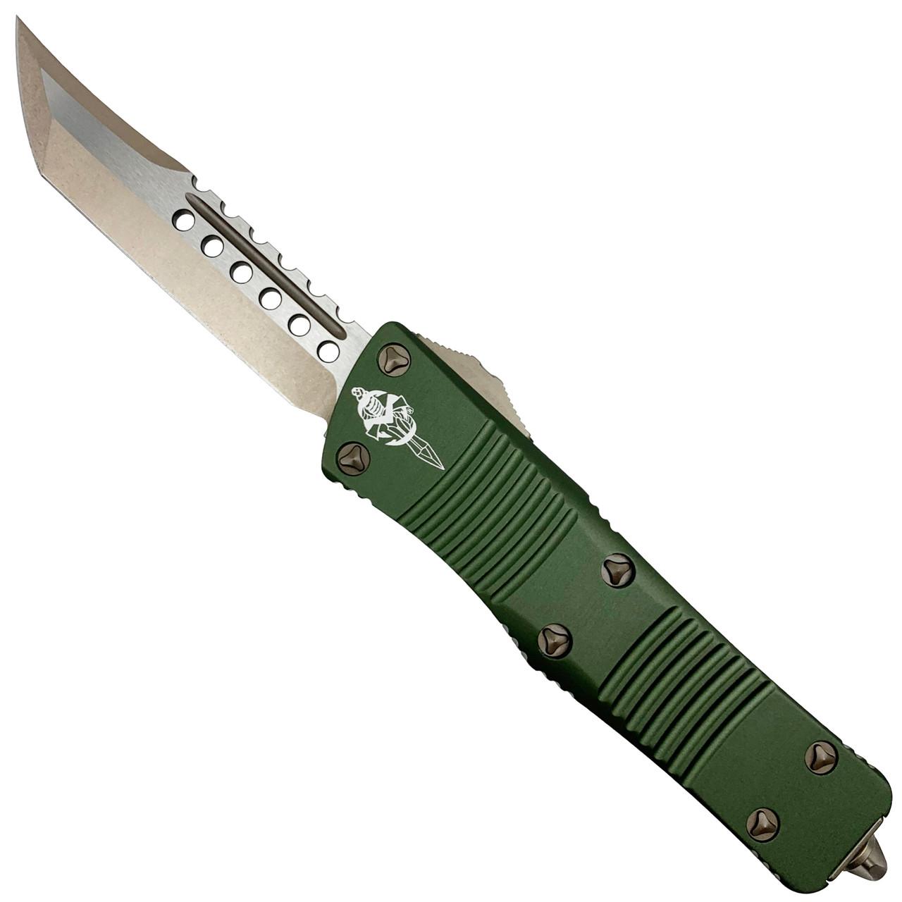 Microtech OD Green Troodon Hellhound OTF Auto Knife, Bronze Blade
