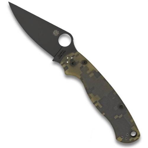 pyderco C81GPCMOBK2 Digi Camo Paramilitary 2 Folder Knife, CPM-S30V Black Blade FRONT VIEW