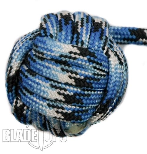 Sentinel Paracord Monkey Fist, Blue Snake, 3/4 Inch