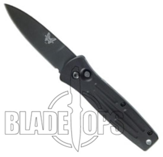 Benchmade, Mel Pardue Auto, Plain Edge, Black Blade