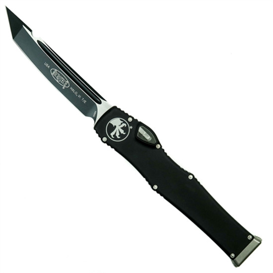 Microtech 250-1 Halo VI T/E OTF Auto Knife, Black Blade