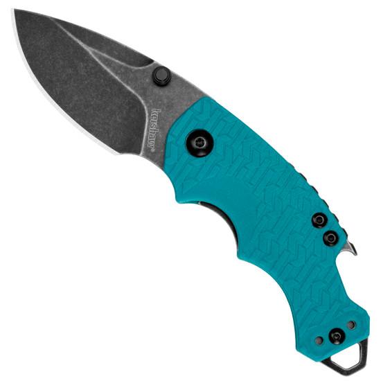 Kershaw Shuffle Folder Knife, Teal Handle, BlackWash Blade
