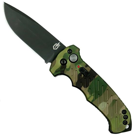 Gerber 30-001600 MultiCam 06 Auto Knife, CPM-S30V Black Blade