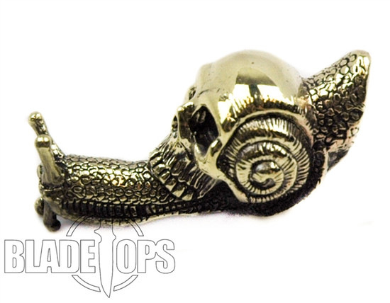Lion ARMory Skull Snail Brass Lanyard Bead