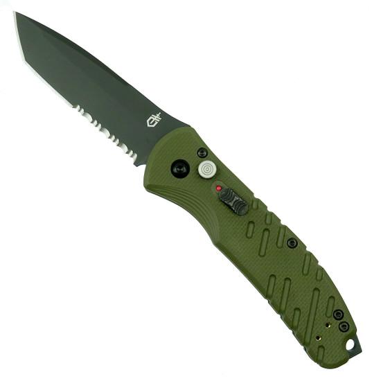 Gerber 30-001309 OD Green Propel Downrange Tanto Auto Knife, CPM-S30V Black Combo Blade