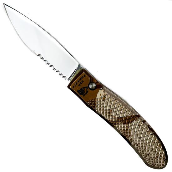 Piranha Desert Camo Toxin Auto Knife, 154CM Mirror Combo Blade