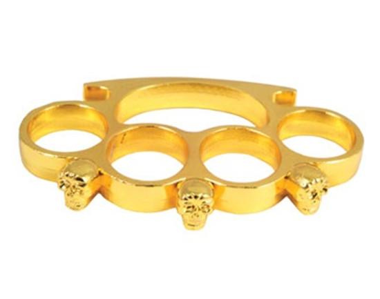 Skull Paper Weight/Belt Buckle, Gold