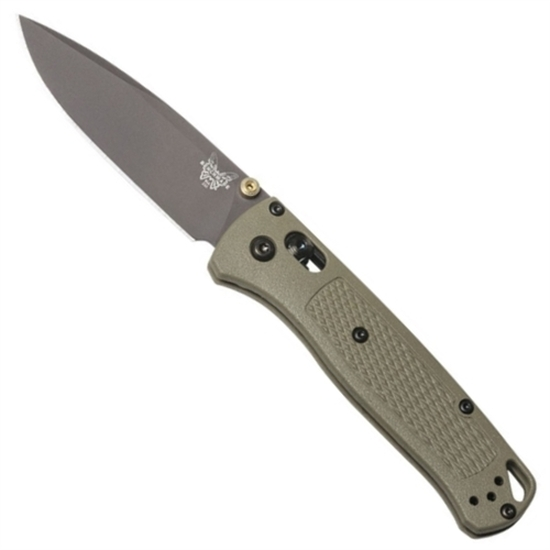 Benchmade 535GRY-1 Ranger Green Bugout Folder Knife, CPM-S30V Smoked Grey Blade