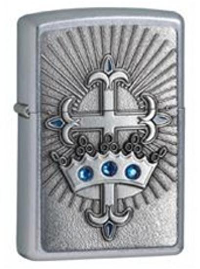 Crown and Cross Zippo, 24875