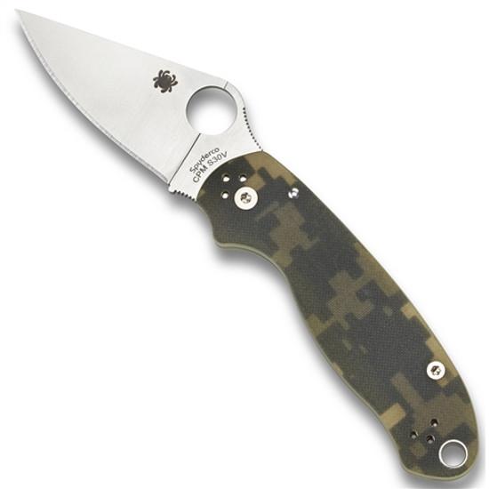 Spyderco C223GPCMO Digi Camo Para 3 Folder Knife, CPM-S45VN Satin Blade