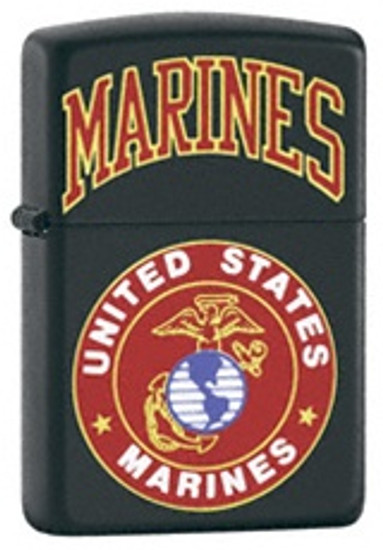 US Marines Black Matte Lighter, Zippo 218.539