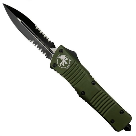 Microtech 142-2OD OD Green Combat Troodon D/E OTF Auto Knife, Black Combo Blade