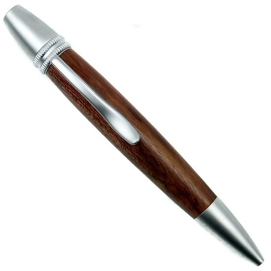 Loki Tool Rosewood Ursa Minor Twist Pen, Satin Finish Front View