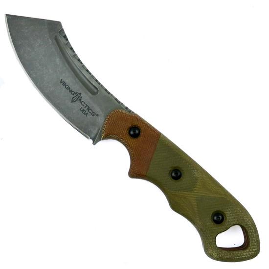 TOPS Viking Tactics Patriot Fixed Blade Knife, Acid Rain Blade