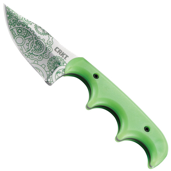 CRKT Minimalist Bowie Gears Fixed Blade Knife, Satin Blade