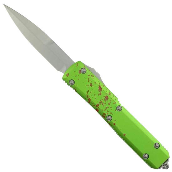 Microtech Zombie Ultratech Bayonet OTF Auto Knife, Stonewash Blade