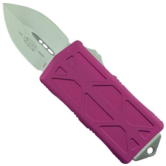 Microtech Violet Exocet OTF Auto Knife, Stonewash Blade