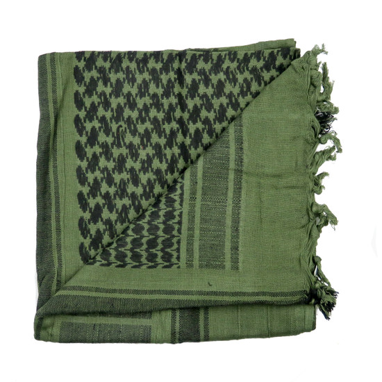Loki Tactical Shemagh Head Wrap, Olive Drab and Black