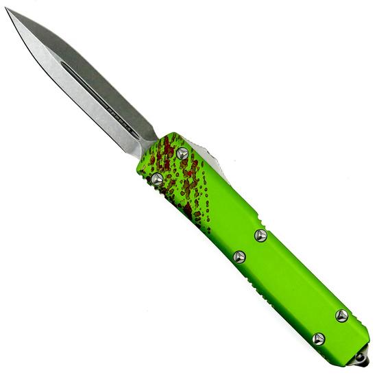 Microtech Zombie Ultratech Dagger OTF Auto Knife, Stonewash Blade
