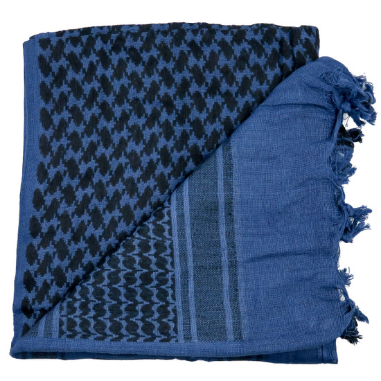 Loki Tactical Shemagh Head Wrap, Blue and Black