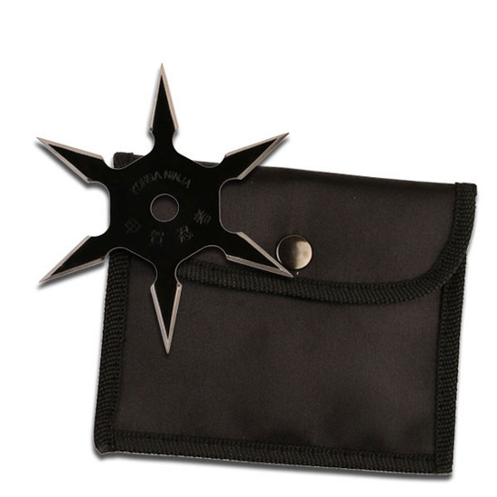 """Perfect Point Throwing Star, 4"""" Black"""
