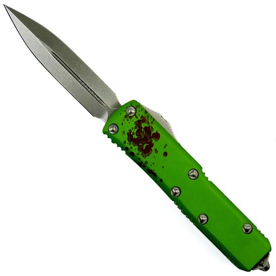 Microtech Zombie UTX-85 Dagger OTF Auto Knife, Stonewash Blade