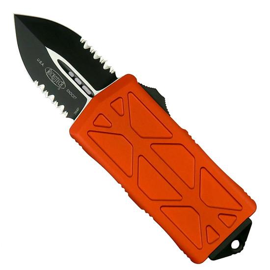 Microtech Orange Exocet OTF Auto Knife, Black Combo Blade