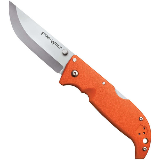 Cold Steel Finn Wolf Folding Knife, Orange Griv-Ex Handles
