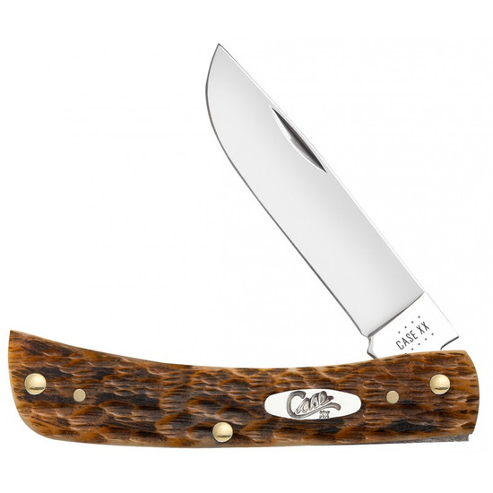 Case Peach Seed Jig Amber Bone Sod Buster Jr Knife