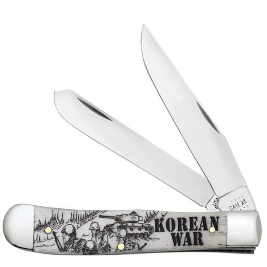 Case Korean War Natural Bone Smooth Trapper Knife